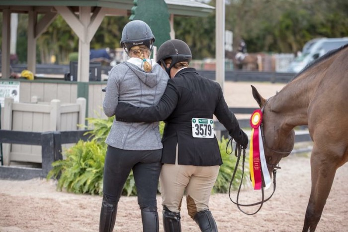 Caitlyn Shiels and Michelle Durpetti at WEF by Fine Art Horses