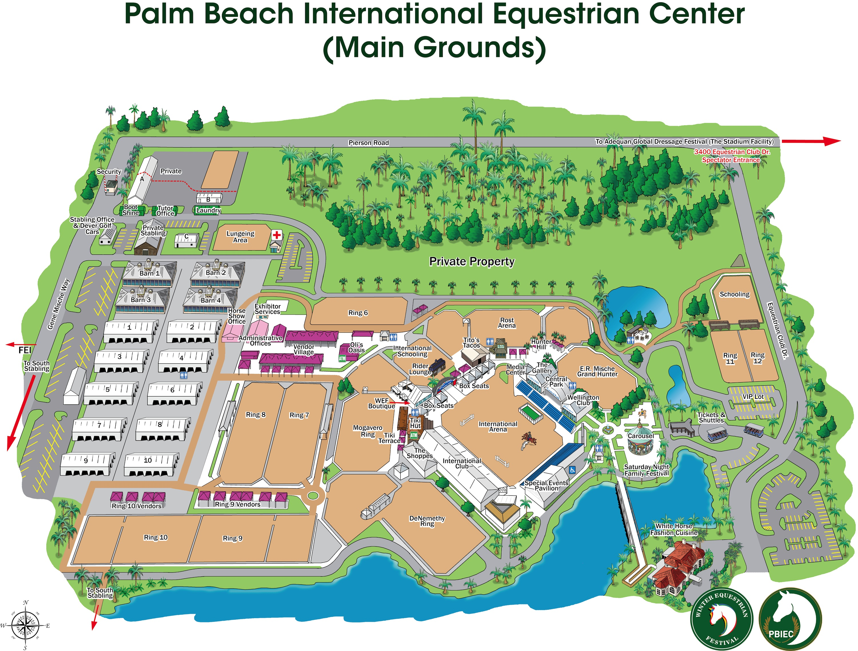 Pointer Spot Tool For Maps: Equestrian Sport Productions