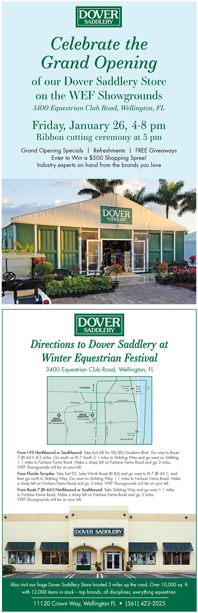 Upcoming Events   Dover Saddlery Grand Opening   Palm Beach
