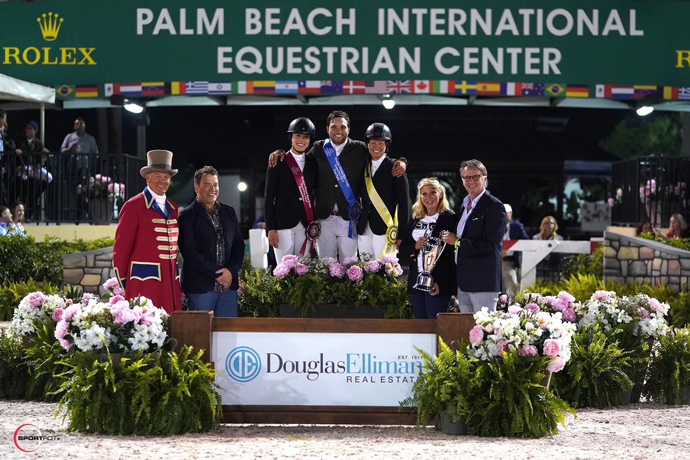 Karen Polle Daniel Bluman Beezie Madden podium 43100232 Sportfot