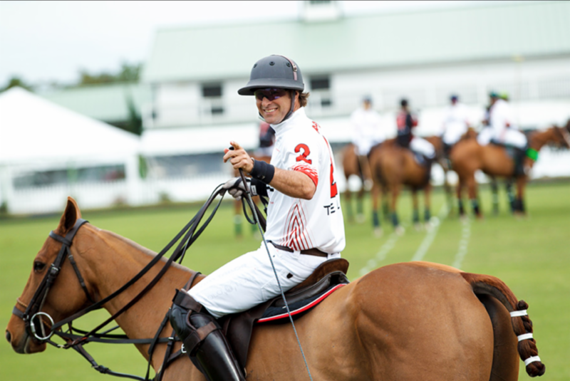 Brandon Phillips, co-chair of the event and non-Hodgkins lymphoma survivor, will play in the 24-goal polo match that will begin the Polo for a Purpose festivities on Monday, January 16, at 2pm. Photo: LILA PHOTO.