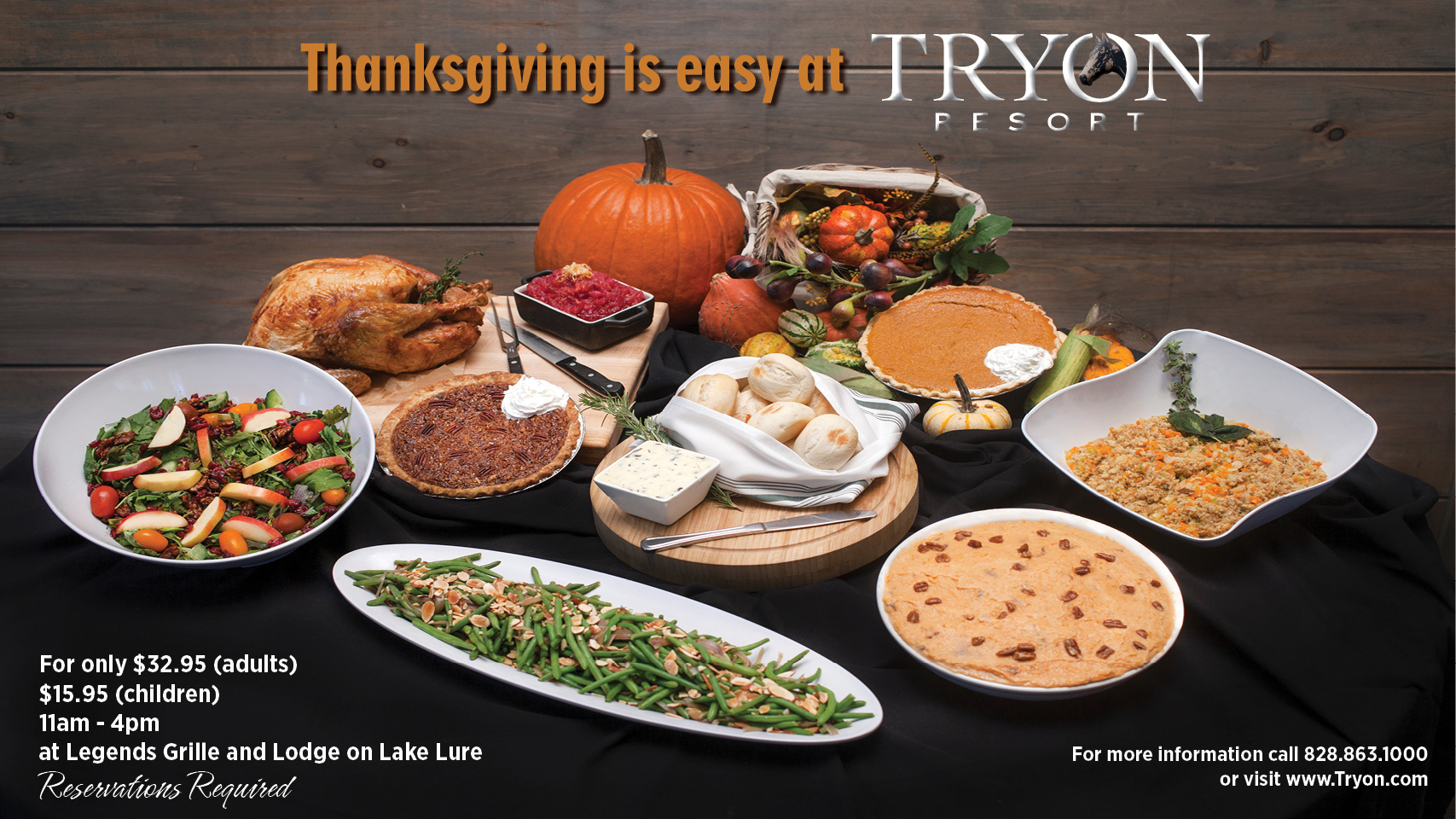 Join us for Thanksgiving at the Lodge!