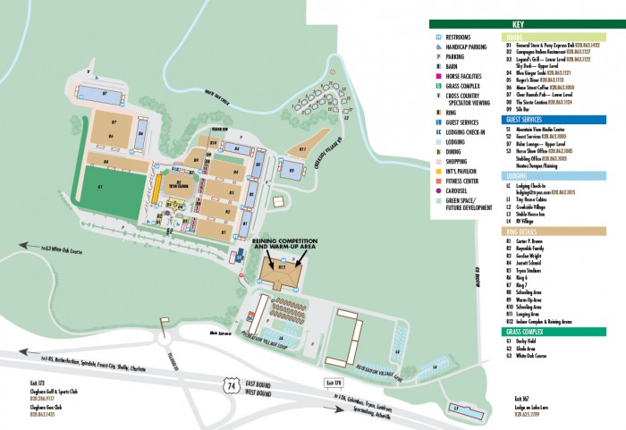 Tryon Resort Facility Map