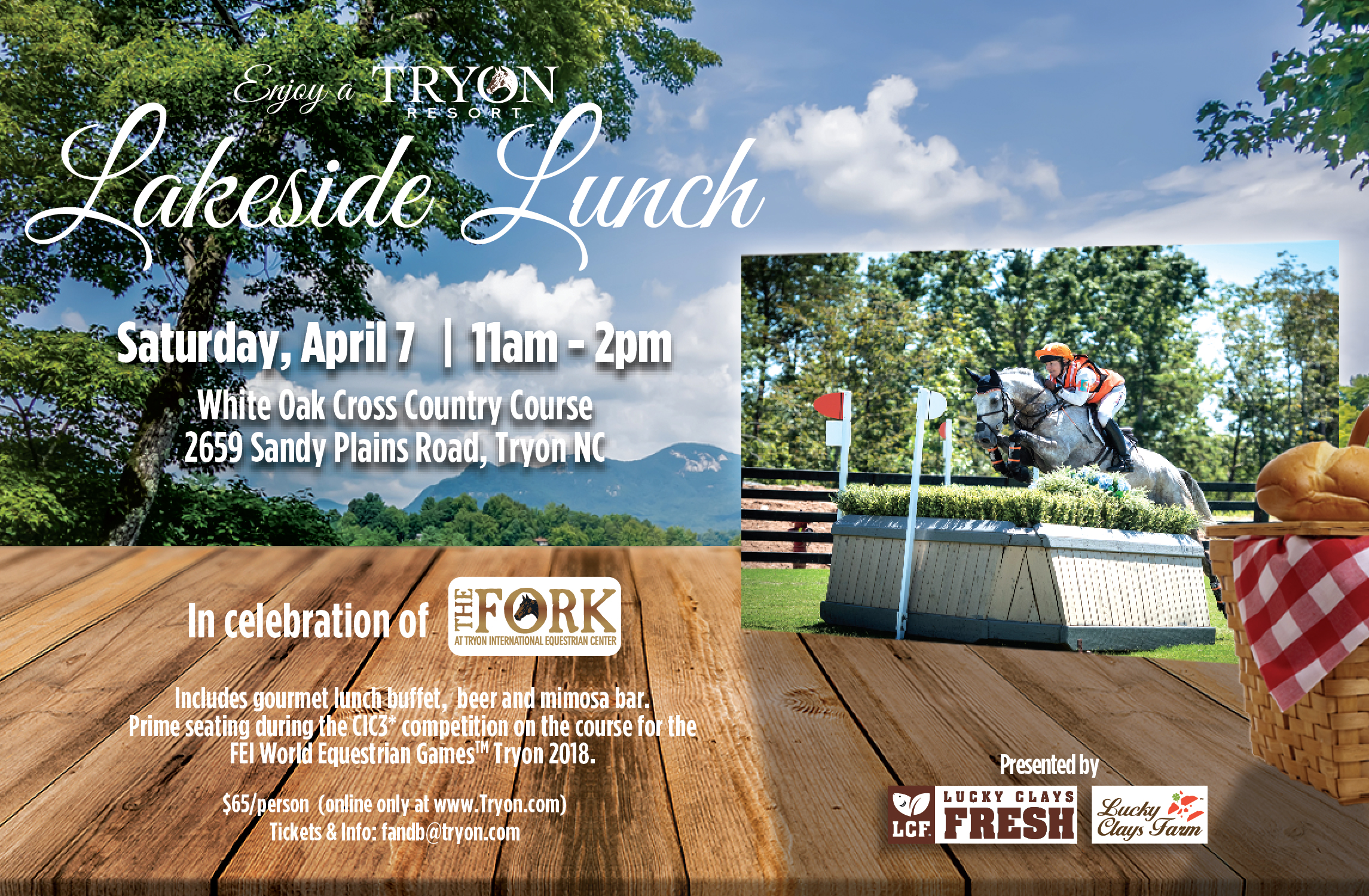Click HERE to get your tickets to the 2018 Lakeside Lunch
