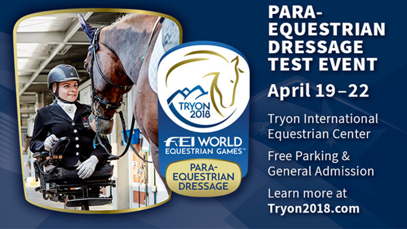 Click HERE for more information about the Para-Equestrian Dressage Test Event!