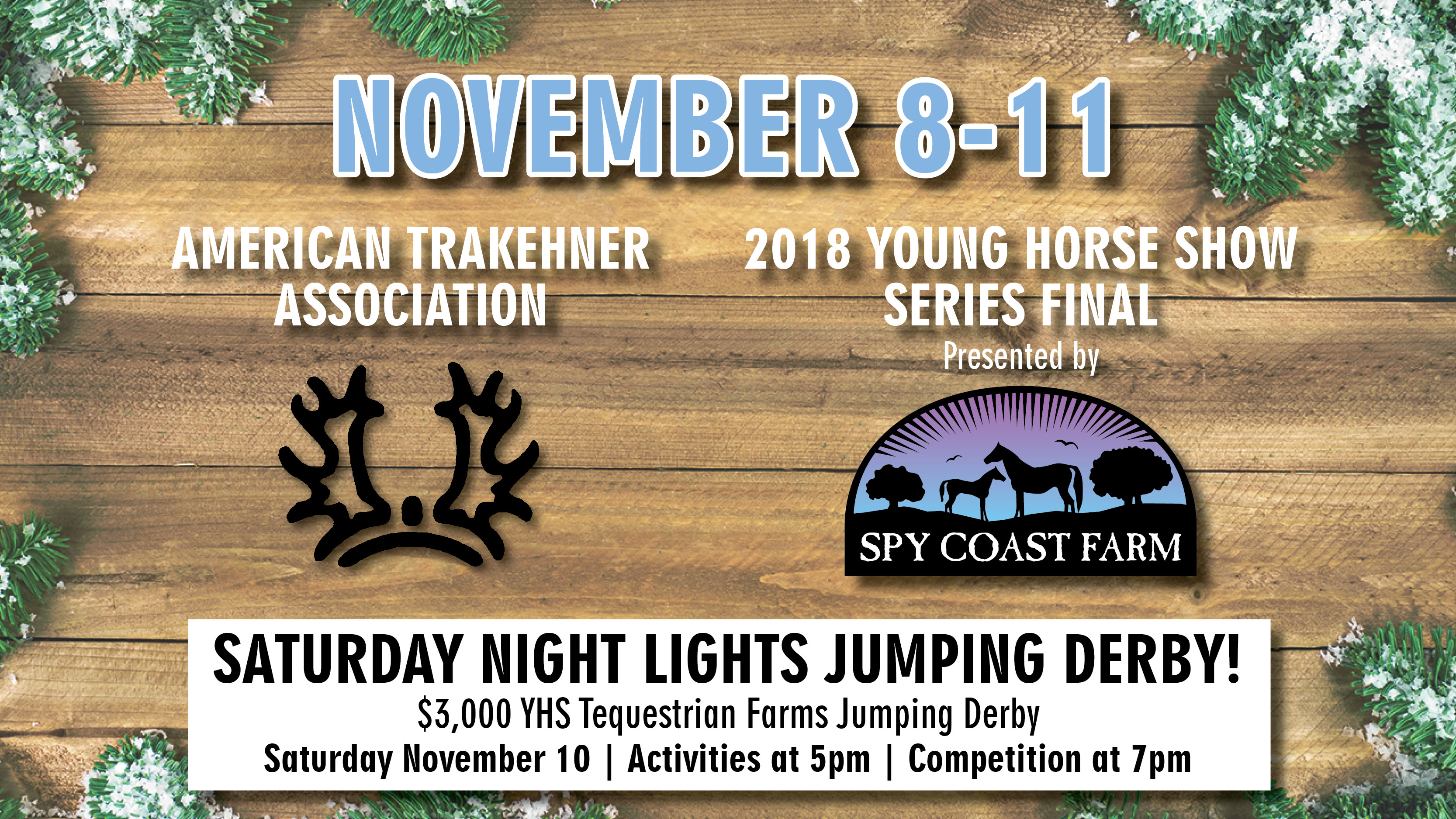 American Trakehner Association and 2018 Young Horse Show Series Final