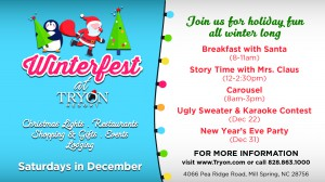 Join us Saturdays in December for Winterfest at Tryon Resort!